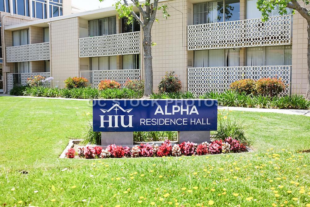 Alpha Residence Hall on the Campus of Hope International University