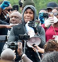 John Boyaga Black Lives Matter demonstration in Hyde Park London photo by Mark Anton Smith