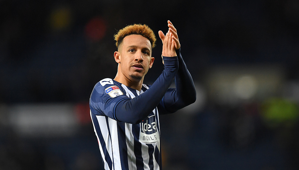 Ex Preston North End player West Bromwich Albion's Callum Robinson <br /> <br /> Photographer Dave Howarth/CameraSport<br /> <br /> The EFL Sky Bet Championship - West Bromwich Albion v Preston North End - Tuesday 25th February 2020 - The Hawthorns - West Bromwich<br /> <br /> World Copyright © 2020 CameraSport. All rights reserved. 43 Linden Ave. Countesthorpe. Leicester. England. LE8 5PG - Tel: +44 (0) 116 277 4147 - admin@camerasport.com - www.camerasport.com