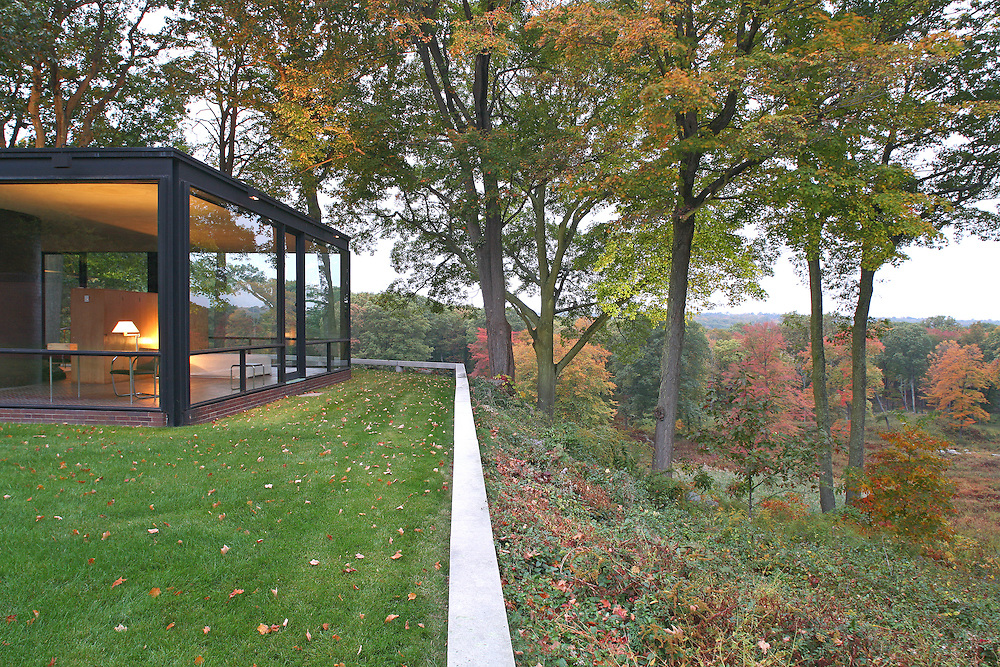 Philip Johnson's Glass House Estate, New Canaan, CT<br /> Photo by Robin Hill (c)