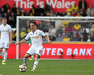 Roque Mesa of Swansea city in action.  Premier league match, Swansea city v Watford at the Liberty Stadium in Swansea, South Wales on Saturday 23rd September 2017.<br /> pic by  Andrew Orchard, Andrew Orchard sports photography.