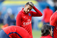 Paris Saint Germain's Brazilian forward Neymar Jr warms up before the French Championship Ligue 1 football match between Paris Saint-Germain and Girondins de Bordeaux on September 30, 2017 at the Parc des Princes stadium in Paris, France - Photo Benjamin Cremel / ProSportsImages / DPPI