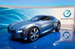 Nissan Esflow electric concept car at  the Geneva Motor Show 2011 Switzerland