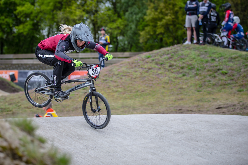 #36 (BULDINSKA Vanesa) LAT during practice at Round 3 of the 2019 UCI BMX Supercross World Cup in Papendal, The Netherlands
