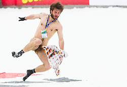Naked fan running in the finish area during the Flying Hill Individual Event at 4th day of FIS Ski Jumping World Cup Finals Planica 2013, on March 24, 2013, in Planica, Slovenia. (Photo by Vid Ponikvar / Sportida.com)