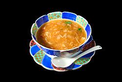 shark fin soup, made of juvenile blue shark fins, Prionace glauca, Tokyo, Japan