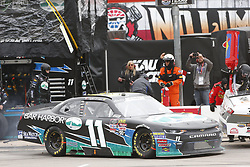 April 7, 2018 - Ft. Worth, Texas, United States of America - April 07, 2018 - Ft. Worth, Texas, USA: Ryan Truex (11) makes a pit stop for the My Bariatric Solutions 300 at Texas Motor Speedway in Ft. Worth, Texas. (Credit Image: © Stephen A. Arce/ASP via ZUMA Wire)
