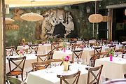 Interior of le cafe, outdoor restaurant, Saint-Tropez, France