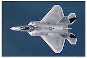 F/A-22 Raptor, air-to-air, top view