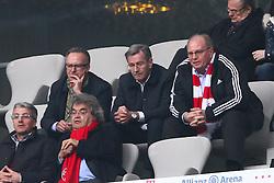 12.03.2011, Allianz Arena, Muenchen, GER, 1.FBL, FC Bayern Muenchen vs Hamburger SV, im Bild Uli Hoeneß (Präsident Bayern) und Karl-Heinz Rummenigge (Vorstandsvorsitzender Bayern)  , EXPA Pictures © 2011, PhotoCredit: EXPA/ nph/  Straubmeier       ****** out of GER / SWE / CRO  / BEL ******