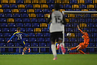 Football - 2021 / 2022 Papa Johns Trophy - Round One - AFC Wimbledon vs Portsmouth - Plough Lane - Tuesday 7th September 2021<br /> <br /> AFC Wimbledon's Luke McCormick scores his side's fifth goal.<br /> <br /> COLORSPORT/Ashley Western