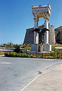 First World War memorial at Calvi, Corsica, France in late 1950s