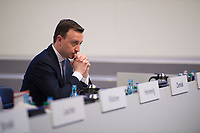 DEU, Deutschland, Germany, Leipzig, 22.11.2019: CDU-Generalsekretär Paul Ziemiak beim Bundesparteitag der CDU in der Messe Leipzig.