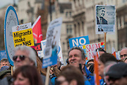 Bevan, founder of the NHS, is remembered - A march against cuts to and potential privatisation of the NHS starts in Tavistock Square and heads for Parliament Square. The march was organised by the peoples assembly and supported by most major unions and the Labour Party.
