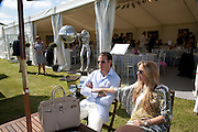 PIERRE LADOW; BIANCA LADOW, The Dalwhinnie Crook  charity Polo match  at Longdole  Polo Club, Birdlip  hosted by the Halcyon Gallery. . 12 June 2010. -DO NOT ARCHIVE-© Copyright Photograph by Dafydd Jones. 248 Clapham Rd. London SW9 0PZ. Tel 0207 820 0771. www.dafjones.com.