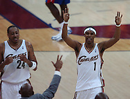 COPYRIGHT DAVID RICHARD.Daniel Gibson walks back to the Cavaliers' bench after making a 3-point basket in the fourth quarter..Detroit Pistons at Cleveland Cavaliers in Game 6 of the NBA Eastern Conference Finals, June 2, 2007.