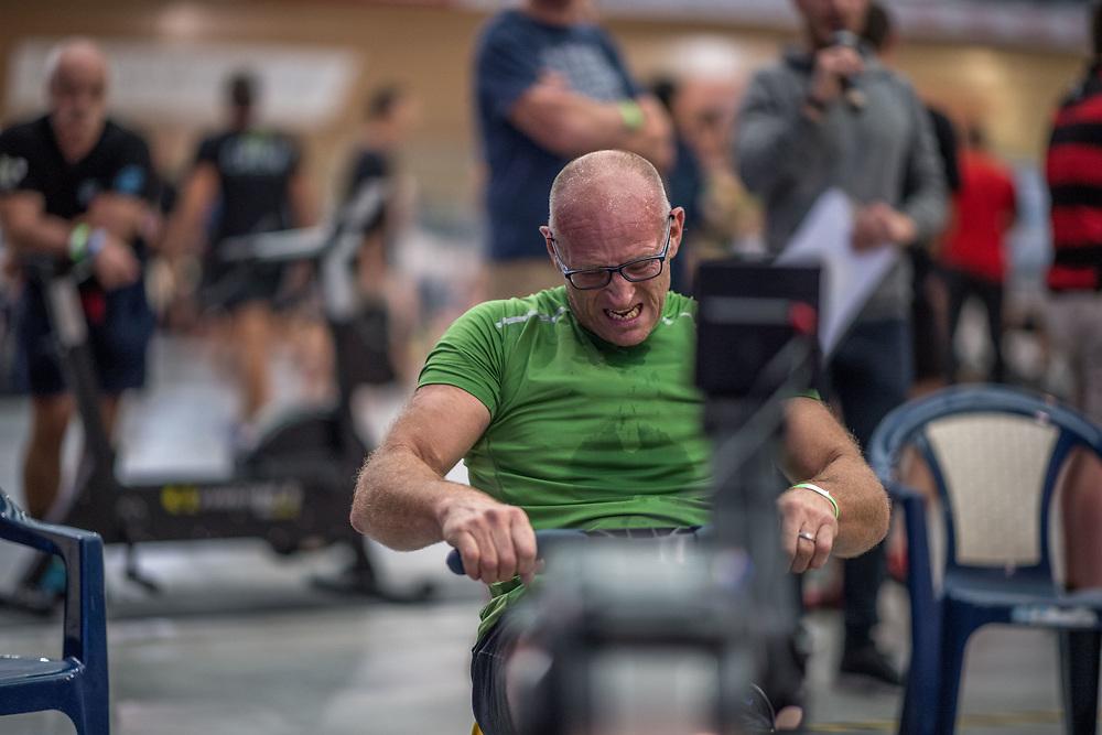 Gavin Foulsham MALE HEAVYWEIGHT Para 20+ 2K Race #4  09:15am<br /> <br /> <br /> www.rowingcelebration.com Competing on Concept 2 ergometers at the 2018 NZ Indoor Rowing Championships. Avanti Drome, Cambridge,  Saturday 24 November 2018 © Copyright photo Steve McArthur / @RowingCelebration