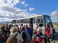 Red Cross Buses at the Puerto Natales Regional Airport. Snapshot taken with a Leica D-Lux 5 camera (ISO 125, 5.1 mm, f/4, 1/800 sec).