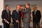 "Movie director Manoel de Oliveira receives de distinction of ""Grand Officier de la Légion d'Honneur"" by the French Ambassador in Portugal, Jean-François Blarel"