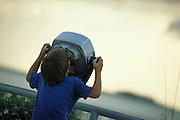 Boy looking through viewer  South Florida