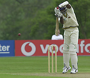 Shenley Middlesex Sri Lanka Tour Match<br /> Middlesex vs Sri Lanka <br /> Photo Peter Spurrier<br /> 11/05/2002<br /> Sport - Cricket - Middlesex vs Sri Lanka -Shenley:<br /> Zoysa, directs the ball . [Mandatory Credit:Peter SPURRIER;Intersport Images]