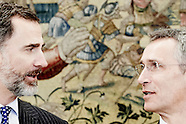 031215 King Felipe attends an audience at Zarzuela Palace
