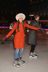 ROXIE NAFOUSI at Skate at Somerset House in association with Fortnum & Mason held on 10th November 2014.