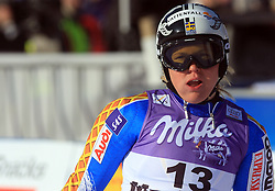 Anja Paerson of Sweden after second run at Maribor women giant slalom race of Audi FIS Ski World Cup 2008-09, in Maribor, Slovenia, on January 10, 2009. (Photo by Vid Ponikvar / Sportida)