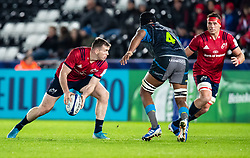 Chris Farrell of Munster <br /> <br /> Photographer Simon King/Replay Images<br /> <br /> European Rugby Champions Cup Round 1 - Ospreys v Munster - Saturday 16th November 2019 - Liberty Stadium - Swansea<br /> <br /> World Copyright © Replay Images . All rights reserved. info@replayimages.co.uk - http://replayimages.co.uk