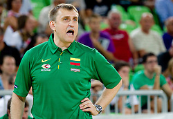 Kestutis Kemzura of Lithuania during friendly match before Eurobasket Lithuania 2011 between National teams of Slovenia and Lithuania, on August 24, 2011, in Arena Stozice, Ljubljana, Slovenia. Slovenia defeated Lithuania 88-66. (Photo by Vid Ponikvar / Sportida)