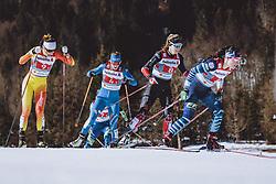28.02.2021, Oberstdorf, GER, FIS Weltmeisterschaften Ski Nordisch, Oberstdorf 2021, Damen, Langlauf, Teamsprint, Freestyle, im Bild v.l.: Bayani Jialin (CHN), Lucia Scardoni (ITA), Dahria Beatty (CAN), Krista Parmakoski (FIN) // f.l.: Bayani Jialin of China Lucia Scardoni of Italy Dahria Beatty of Canada Krista Parmakoski of Finland during women Cross Country team sprint freestyle competition of the FIS Nordic Ski World Championships 2021 in Oberstdorf, Germany on 2021/02/28. EXPA Pictures © 2021, PhotoCredit: EXPA/ Dominik Angerer