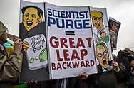 Anti-Trump sign at the March for Science in Washignton D.C.  on Earth Day