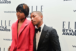 PHARRELL WILLIAMS and HELEN LASICHANH at the 17th Elle Style Awards 2014 in association with Warehouse held at One Embankment, 8 Victoria Embankment, London on 18th February 2014.