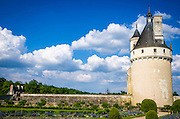 The Marques Tower, Chateau de Chenonceau, Chenonceaux, Loire Valley, France