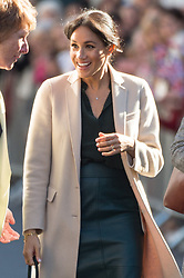 © Licensed to London News Pictures. 03/10/2018. London, UK. Meghan, Duchess of Sussex meet members of the public outside Edes House, Chichester, Sussex. Photo credit: Ray Tang/LNP