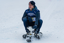 20.01.2018, Hahnenkamm, Kitzbühel, AUT, FIS Weltcup Ski Alpin, Kitzbuehel, Kitz Charity Trophy, im Bild Max Verstappen // Max Verstappen during the Kitz Charity Trophy of the FIS Ski Alpine World Cup at the Hahnenkamm in Kitzbühel, Austria on 2018/01/20. EXPA Pictures © 2018, PhotoCredit: EXPA/ Stefan Adelsberger
