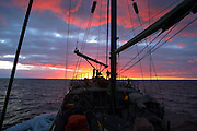 Rainbow Warrior, during bottom trawling campaign, Tasman Sea, off the coast of New Zealand,  June 2005