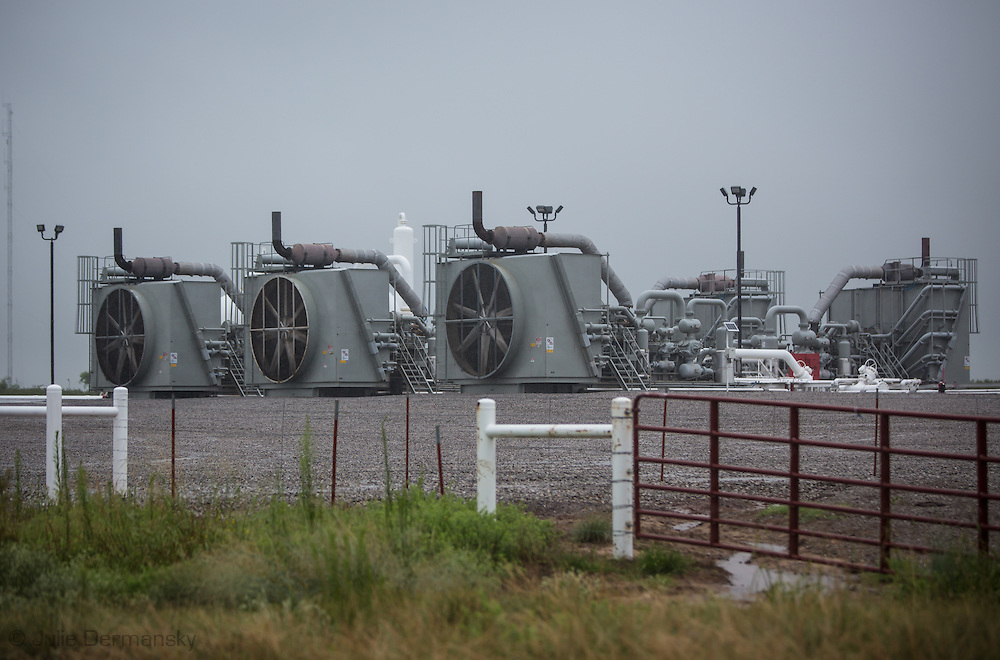 Compressor Station used by the fracking industry  in Alfalfa County in Northwestern Oklahoma .