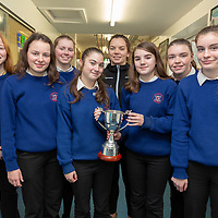 Shannen, Teresa, Sarah, Allanah, Rachel, Leah and Neassa who all play for  Banner GAA alonside Niamh O'Dea with the with the Munster LGFA Post Primary Senior E Perpetual Cup