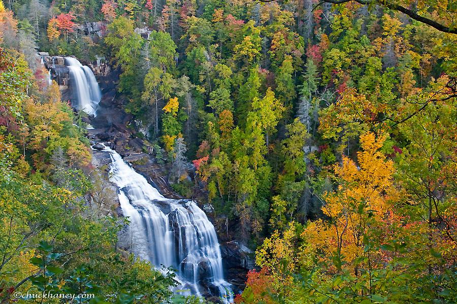 Whitewater Falls in the Nantahala National Forest of North Carolina