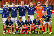 Under 17s Scotland Squad ahead of their European Championships match between Scotland and Poland at Firhill Stadium, Maryhill, Scotland on 26 March 2019.
