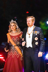 October 22, 2019, JAPAN: 22-10-2019 Gala Queen Maxima and King Willem-Alexander arrive at the Imperial Palace for the Court Banquets, the 'Kyoen-no-gi' banquet, after the ceremony of the enthronement of Emperor Naruhito in Tokyo, Japan. (Credit Image: © face to face via ZUMA Press)