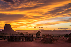Navajo Hogan.  The Navajo's built these earthen huts to protect themselves from the blazing sunrises and sunsets of the Colorado Plateau.  this hogan is in Monument Valley.