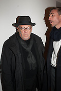 JOSEPH KOSUTH, Opening of Morris Lewis: Cyprien Gaillard. From Wings to Fins, Sprüth Magers London Grafton St. London. Afterwards dinner at Simpson's-in-the-Strand hosted by Monika Spruth and Philomene Magers.