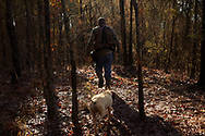 Texana, NC resident Mark Pickens hunts hogs with fellow NC residents in Washington, GA on January 25, 2020, GA. Mr. Pickens is Ms. Bessie's grandson. Photography by Chris Aluka Berry/ ALUKA Storytelling Photography