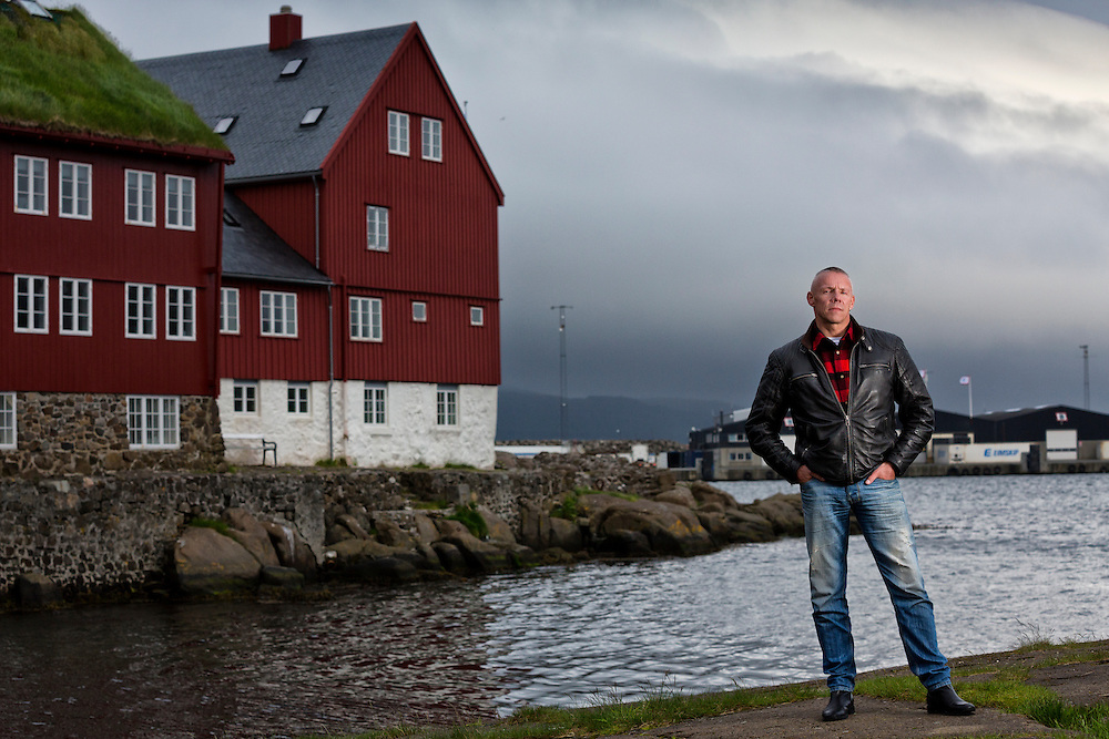"""Torshavn Harbor, Streymoy Island, Faroe Islands.<br /> <br /> Ingi Sørensen, a local Faroese commercial diver who loves the ocean and the animals in it.  Sørensen is against the Grindadrup or """"Gring""""--the traditional annual Faroese pilot whale slaughter, and hopes to change the ideas of his country men.  Sorenson has gone public with his opinions, starting a Facebook group which has over 300 members, and has been featured on countless television and magazine stories speaking against the tradition  His opinions have been met with wrath from fellow islanders, saying he's crazy, and that his only goal is publicity.  Sorenson believes in education.<br /> <br /> Ingi hopes that the tradition will eventually die, but it's demise can't come soon enough."""