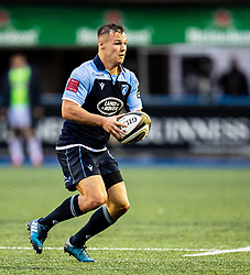 Jarrod Evans of Cardiff Blues<br /> <br /> Photographer Simon King/Replay Images<br /> <br /> Guinness PRO14 Round 2 - Cardiff Blues v Edinburgh - Saturday 5th October 2019 -Cardiff Arms Park - Cardiff<br /> <br /> World Copyright © Replay Images . All rights reserved. info@replayimages.co.uk - http://replayimages.co.uk