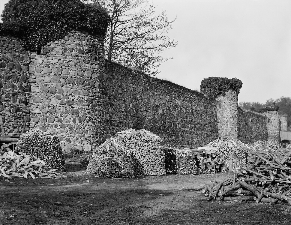 Remains of Medieval Stone Walls and Woodpiles, Templin, Brandenburg, 1928