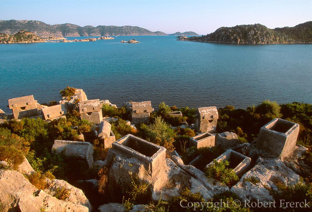 TURKEY, HELLENISTIC, TEIMIUSSA Kingdom of Lycia, 6thc bc tombs near Kas