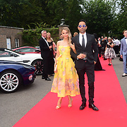 Sophie Hermann and guest attends the 2018 Grand Prix Ball held at The Hurlingham Club on July 4, 2018 in London, England.